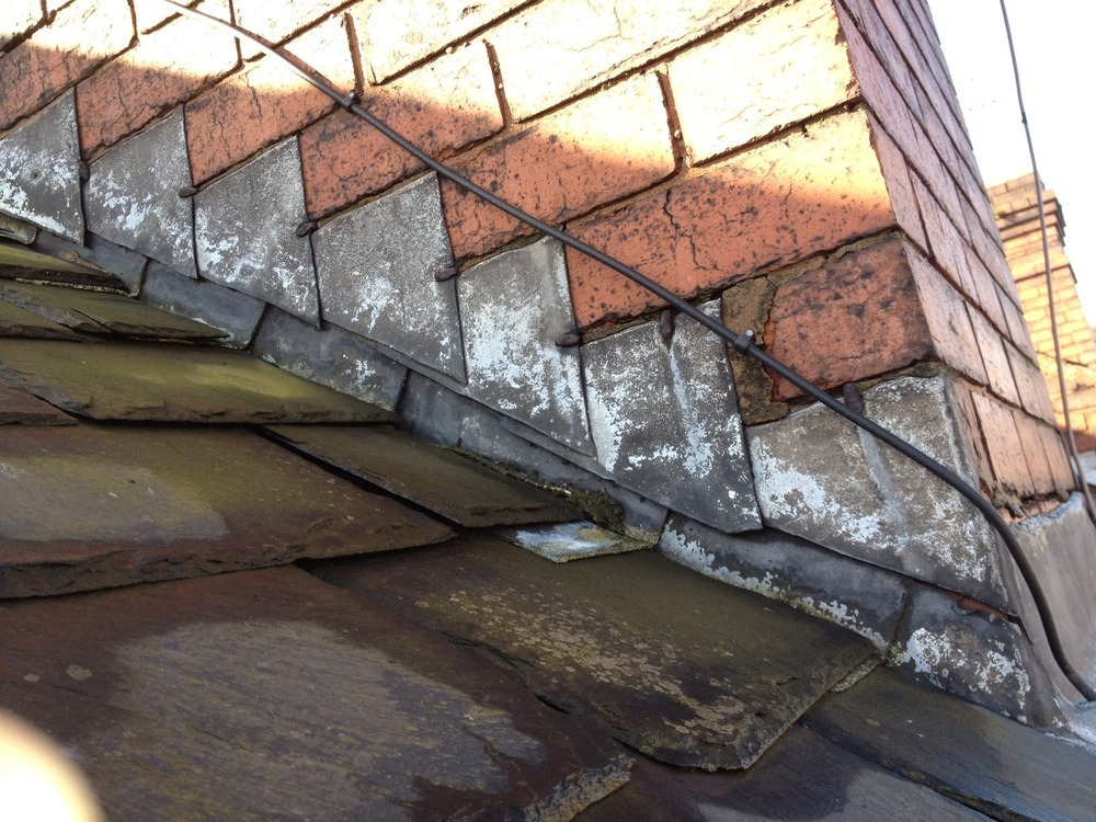 Repaire Replace Flashing Around Terrace Chimney Roofing