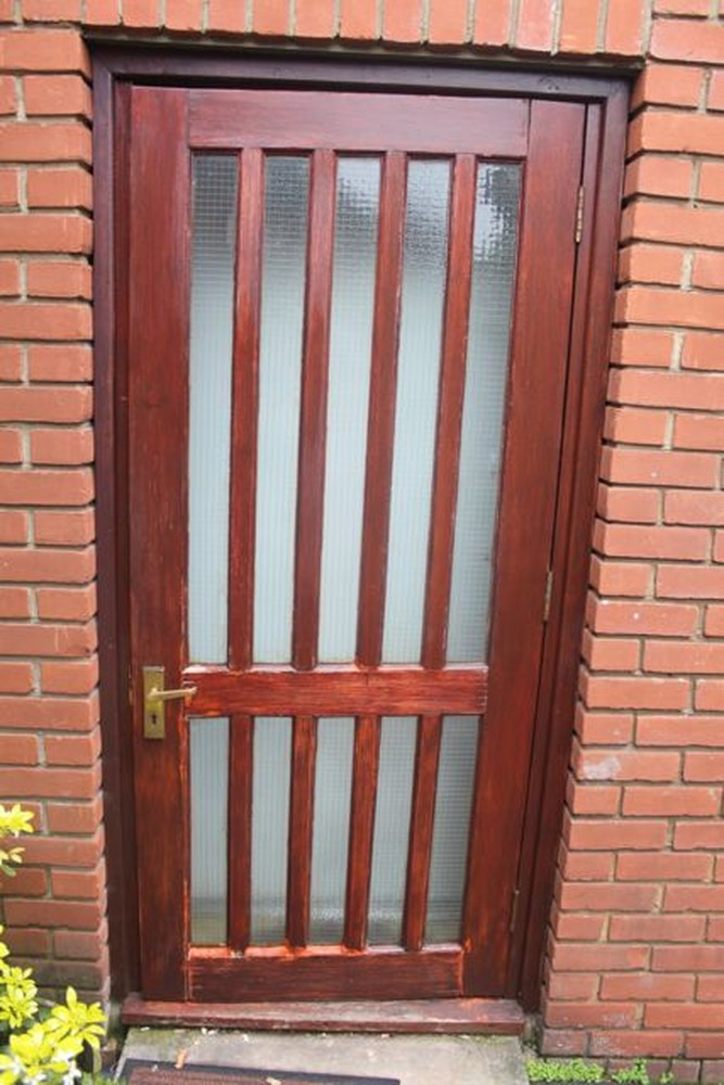 Fit New External Wood Door And Frame Carpentry Job In