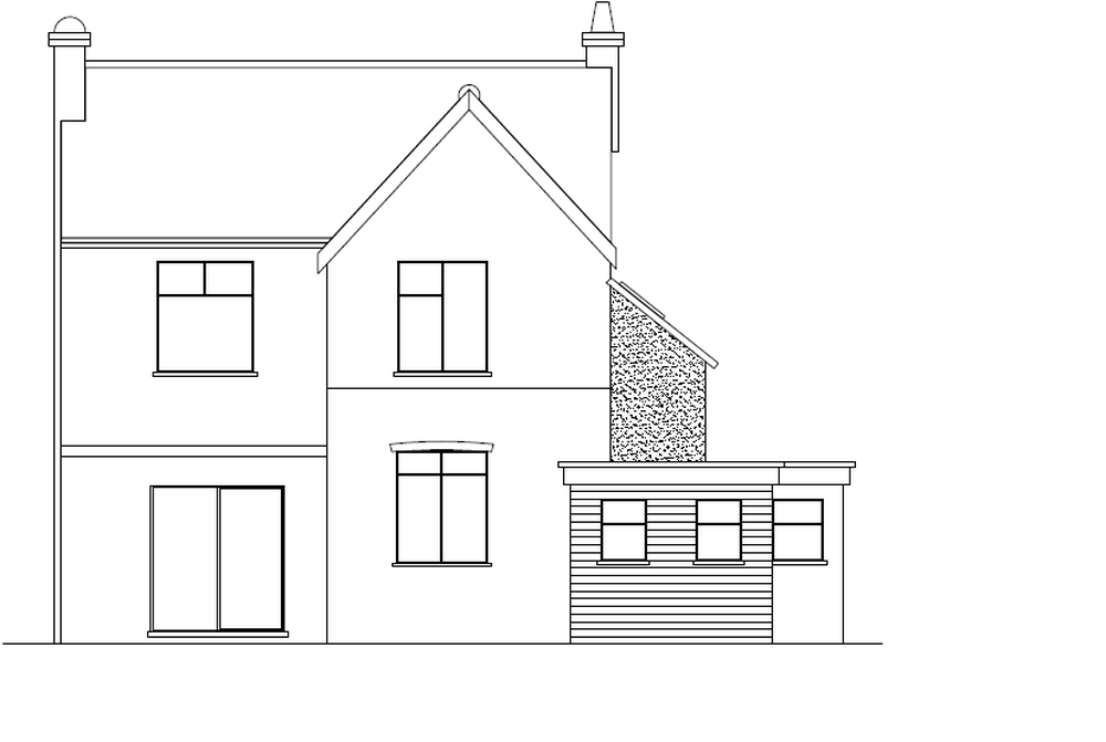 single story timber frame extension