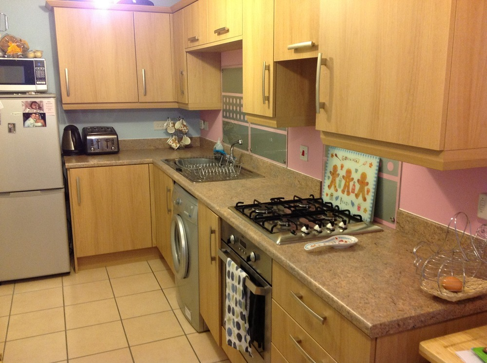 Replace Kitchen Worktops Fit Sink And Tile Small Area