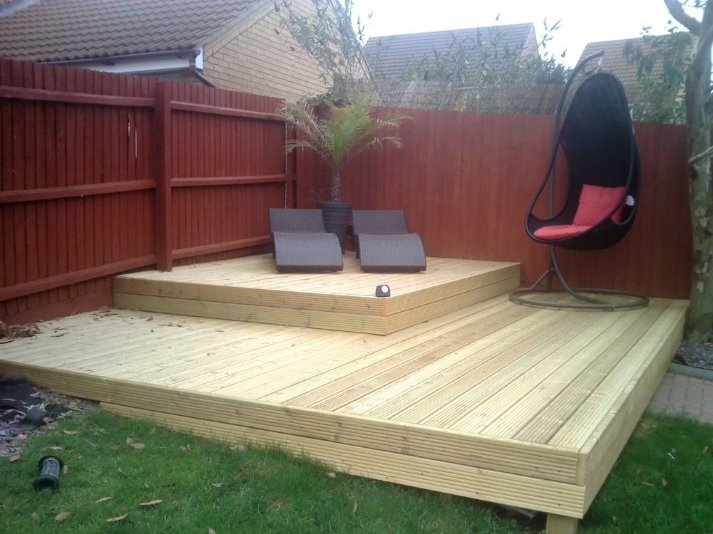 Lift a few deck boards fit decking lights handyman job in photographs mozeypictures Gallery