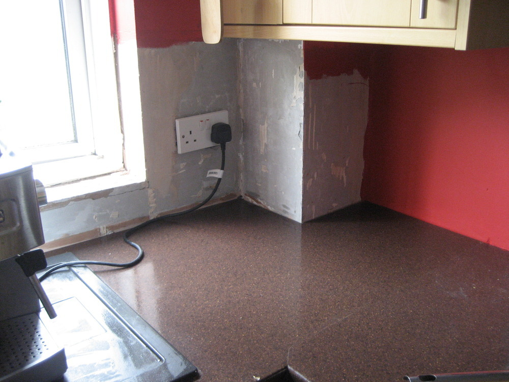 Tile around kitchen window and new units - Tiling job in Woking ...