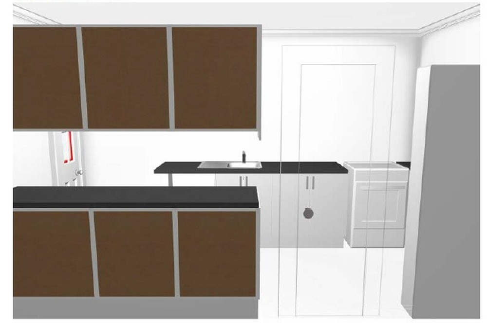 Fit ikea kitchen 8 units in small terrace house for Fitting kitchen units