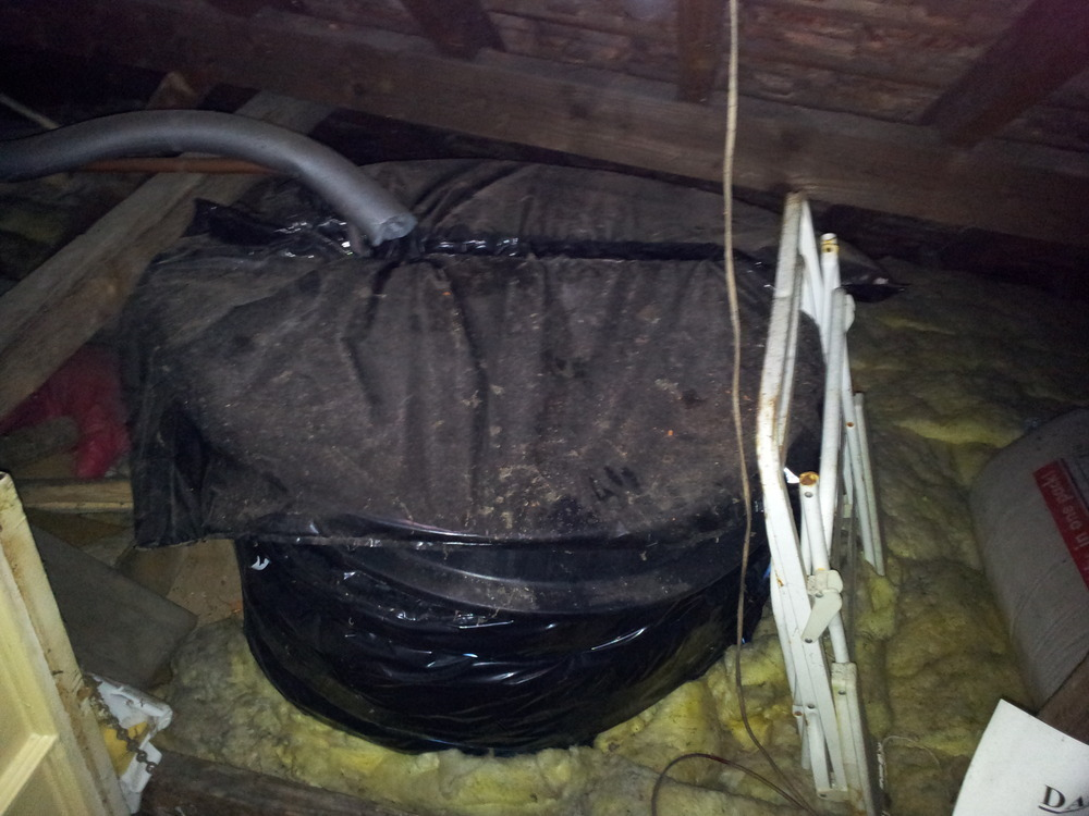 Removing Water Tank From Loft Plumbing Job In Bromley