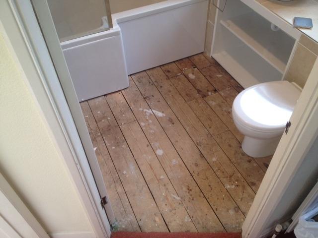 Bathroom Floor Vinyl Hard Flooring Job In Sidcup Kent