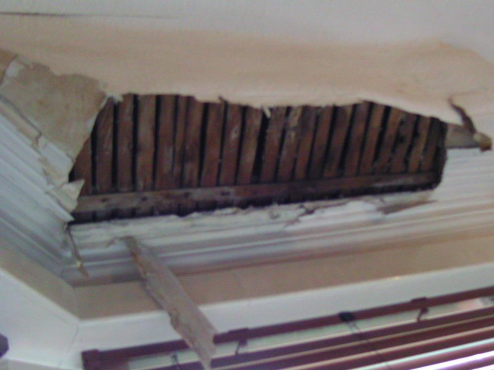 Bay window roof leak repair, and internal replaster - Roofing job in ...