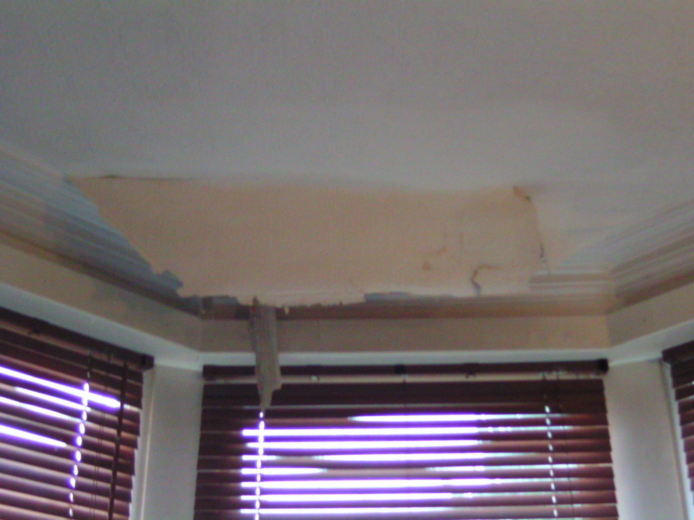Bay Window Roof Leak Repair And Internal Replaster