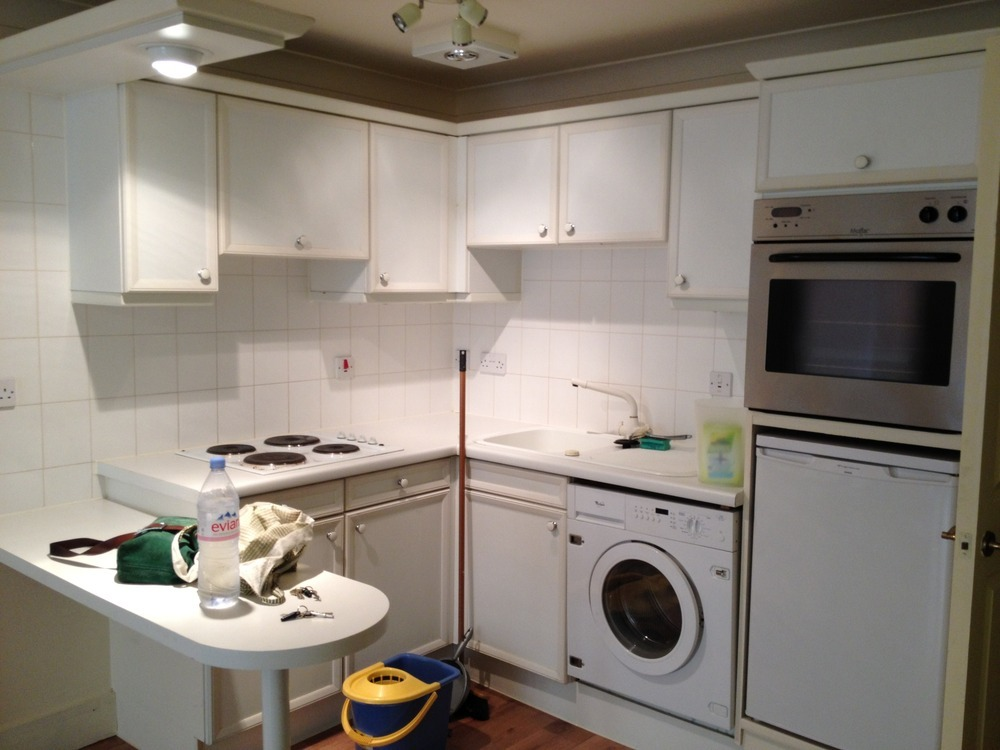 Kitchen Washing Machine ~ Small kitchen incl elec hob sink washing machine re do