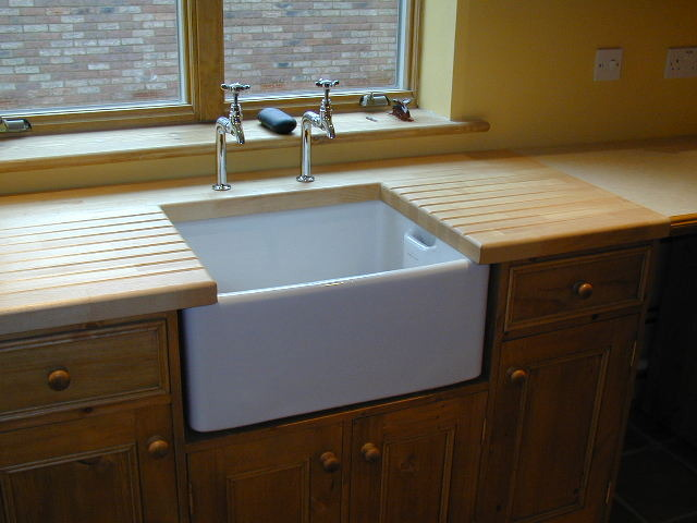 Kitchen Worktop Routing Cutting For Belfast Sink
