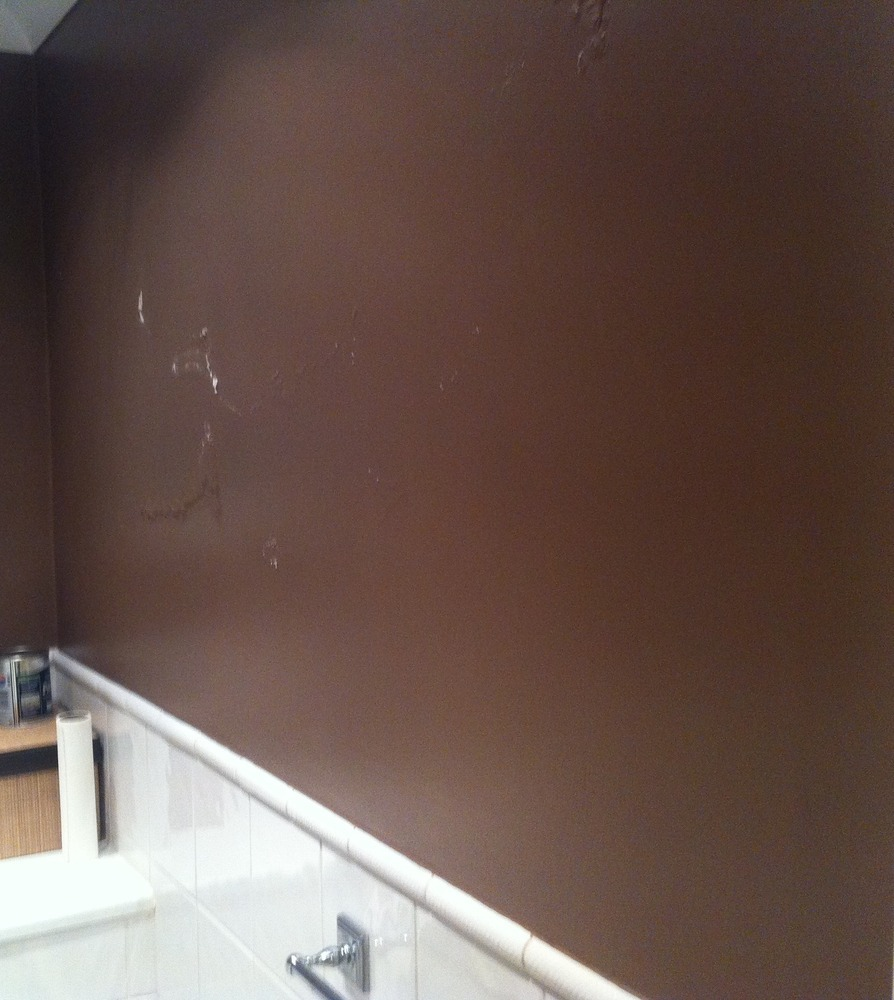 inside wall damp bubbling paint damp proofing job in. Black Bedroom Furniture Sets. Home Design Ideas