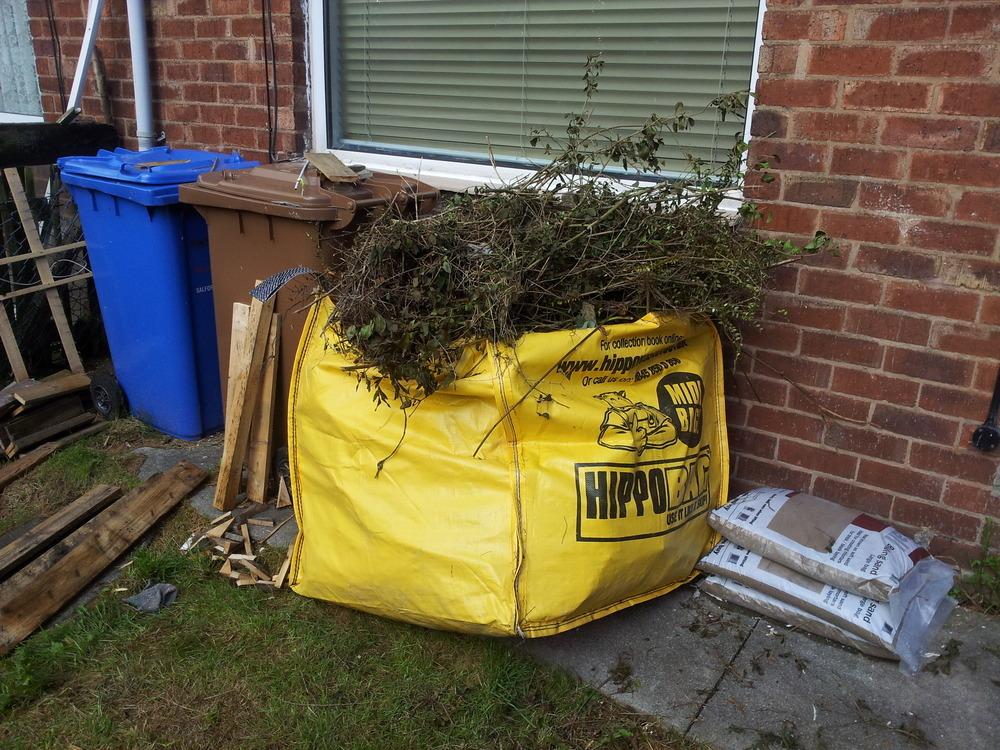 Removal of garden rubbish demolition clearing job in for Gardening jobs manchester