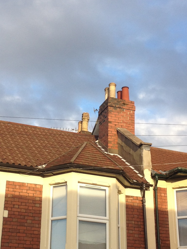 Fitting Chimney Cowl On Victorian Terrace House Bristol