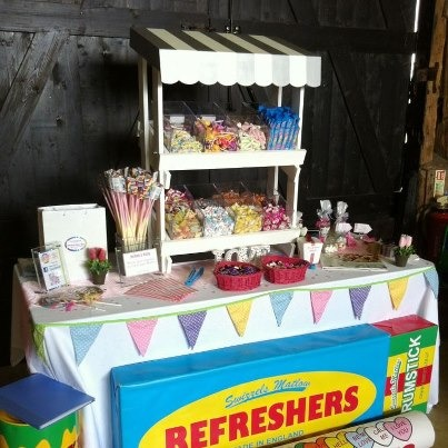 Vintage Style Sweet Cart And Tier Stall Carpentry Job In