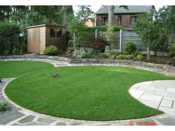 Ghc 100 feedback landscape gardener driveway paver in for Small round garden design