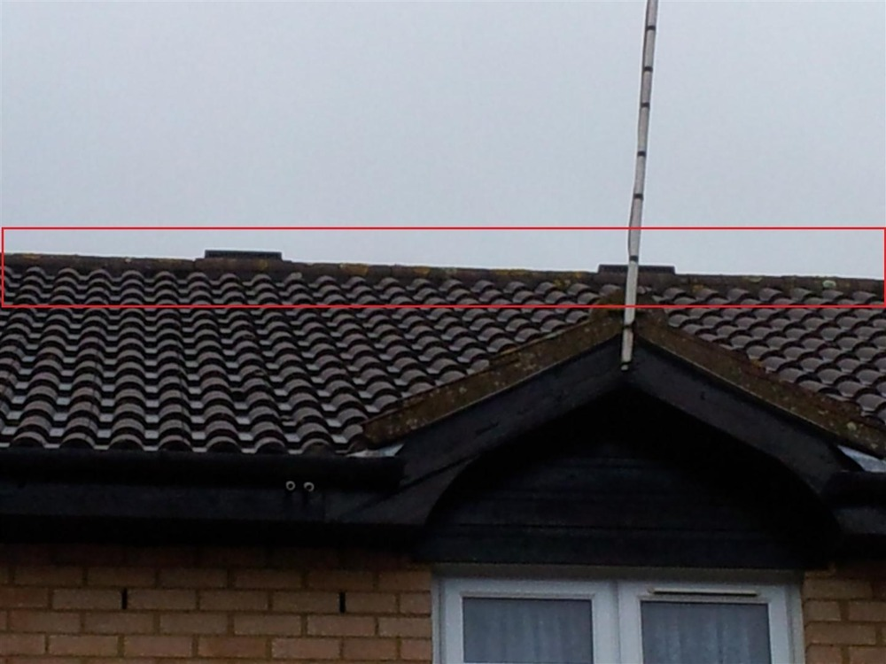 Ridge Tiles Might Need Rebedding On Terrance Roof