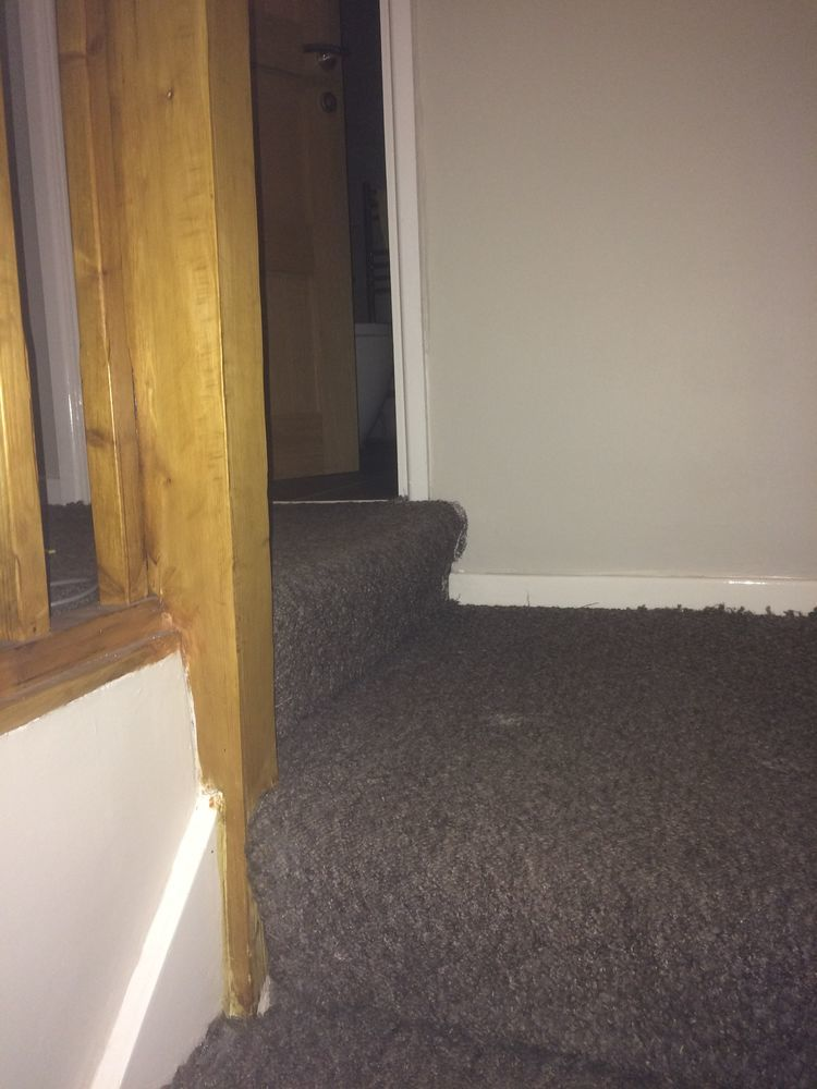 Stairs Half Carpet Half Laminate Carpet Amp Lino Job In