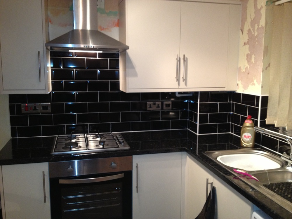 black kitchen tiles ideas kitchen fitter carpenter amp joiner window fitter in hull 16434