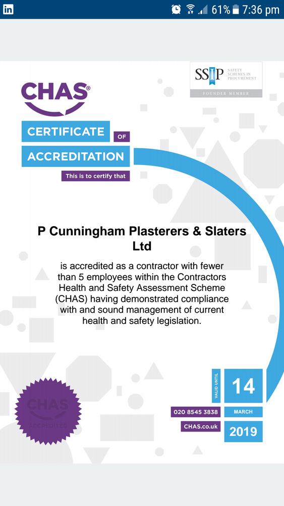 P Cunningham Plasterers Amp Slaters Ltd 100 Feedback
