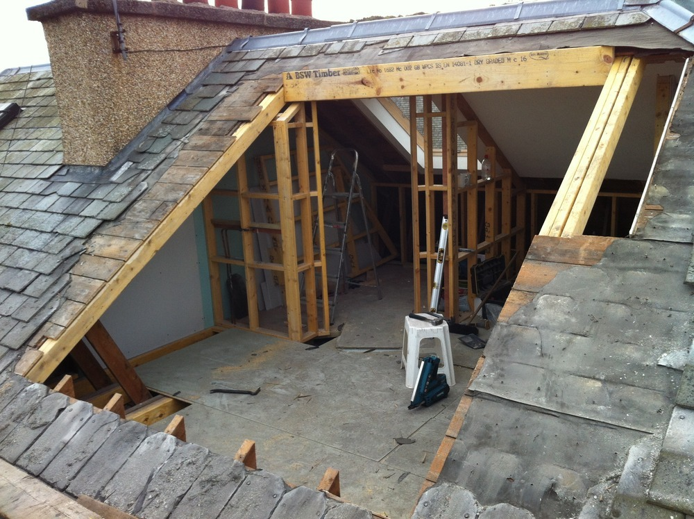 how to structurally build on a dormer