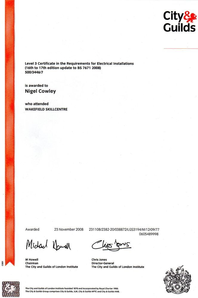 Njc Electrical Services 100 Feedback Electrician In