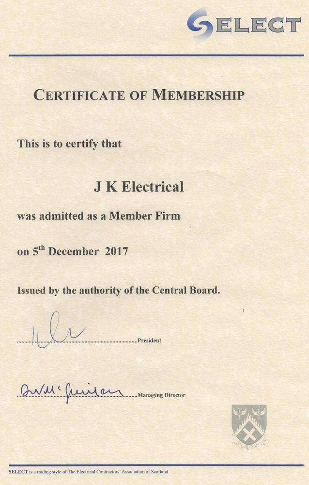 Jk Electrical 100 Feedback Electrician In Glasgow