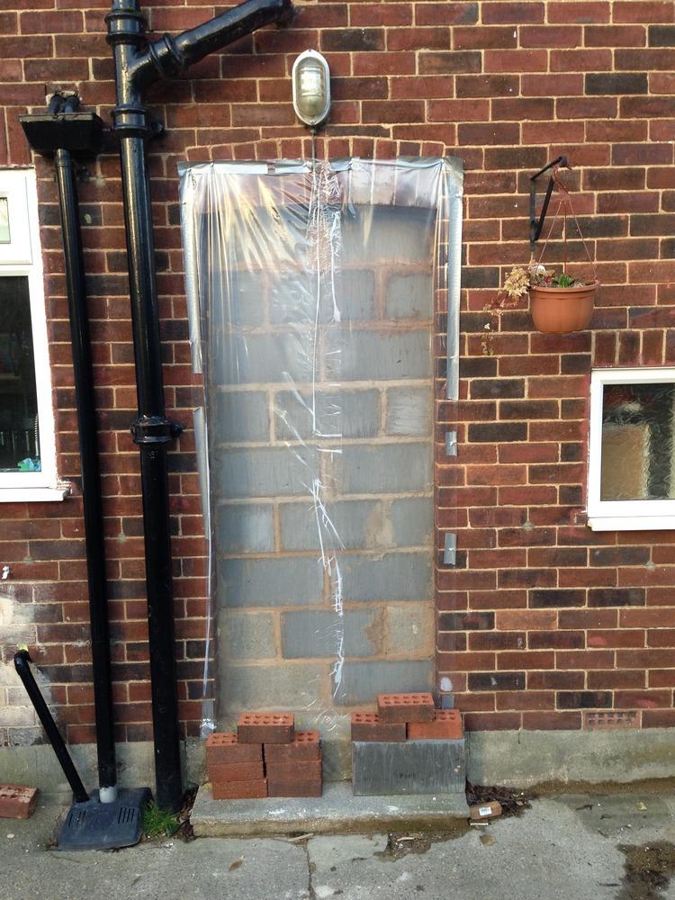 Brick Up External Doorway Bricklaying Job In Leeds West
