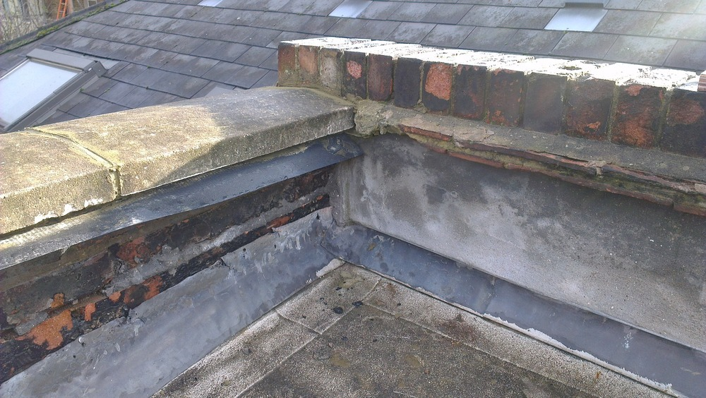 Zinc Cover For Coping Stones On Flat Roof Roofing Flat