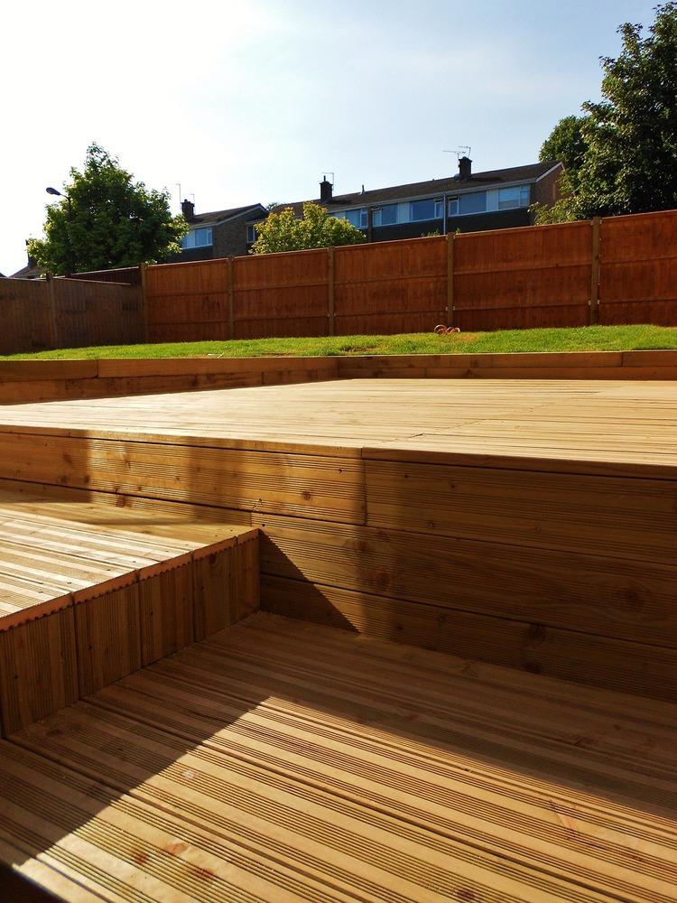 Lms refurbishments 100 feedback restoration refurb for Garden decking fitters