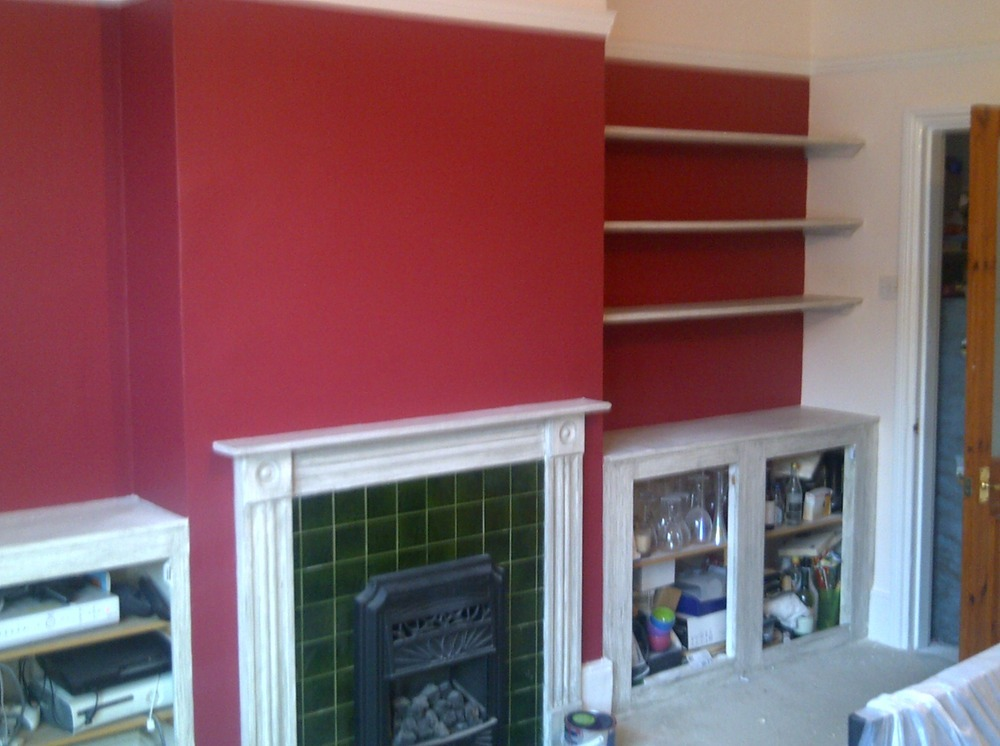 Andrew quality decorating 100 feedback painter Fireplace feature wall colour