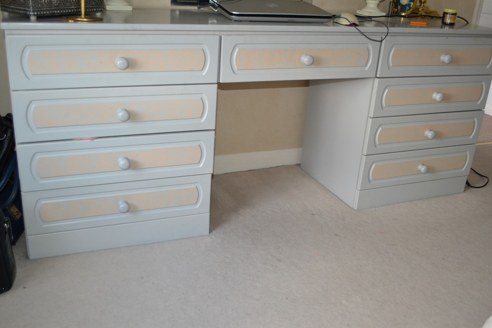 Spray paint bedroom furniture and wardrobe doors Painting